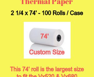 Finally a Large Paper Roll for the Vx520's!!!!